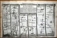 LONDON WALTHAM FOREST WARE ROYSTON STILTON Gardner Antique Strip Road Map 1719