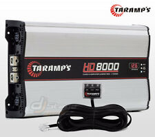 Taramp's HD8000 2 ohms Mono Amplifier 8000 W RMS 14.4 Volts Compact Taramps amp