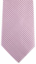 David Van Hagen Mens Pin Dot Tie - Pink/Navy