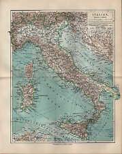 Landkarte map 1908: ITALIEN. Italia Italy Maßstab: 1 : 4.500.000