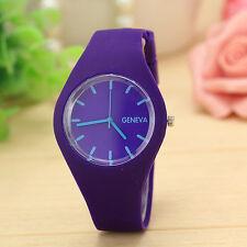 Hot Men Gents Women Ladies Silicon/Rubber UNISEX Xmas Gift Fashion Wrist Watch