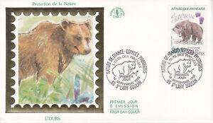 Enveloppe maximum 1er jour CEF 1991 - Protection Nature L'Ours