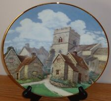 "David Winter Cottages Cotswold Village 8.5"" collector's plate"