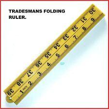 RULER FOLDING 4 FOLD PLASTIC, 39inch LONG, CARPENTERS RULER - INCH only - NEW .