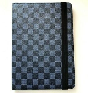 """Apple iPad 10.2"""" (7th & 8th gen) - Blue Squared Rotating Stand Cover Case Pouch"""