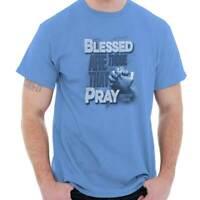 Blessed Are Those Pray Jesus Christian God Adult Short Sleeve Crewneck Tee