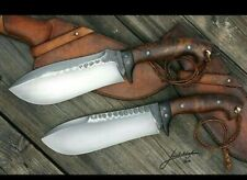 custom handmade Carbon 1095 steel hunting knives 2