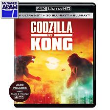 GODZILLA VS. KONG 4K Ultra HD + Blu-ray 3D + Blu-ray (REGION FREE) READY TO SHIP