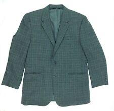 Jos A Bank Small Herringbone 100% Wool Gray Brown Sport Coat Size Men 46L