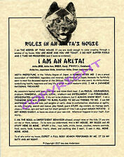 Rules In An Akita's House