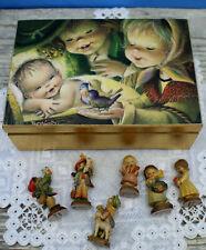Anri Ferrandiz Reuge Music Box Wood Carvings Miniatures 6 FigurInes Le Italy