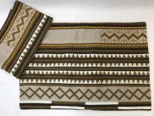 NEW Vtg 2 King Size Pottery Barn Pillow Sham Africa Aztec Southwest Brown Orange