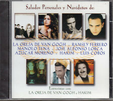 """LA OREJA DE VAN GOGH - HAKIM - MANOLO TENA """"SALUDOS & ENTREVISTAS"""" RARE PROMO CD"""