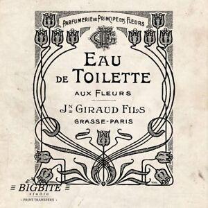 Water Decal Print Transfer – French Advert: Giraud Fils Eau de Toilette #027
