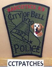 CITY OF BELL, CALIFORNIA NARCOTICS K-9 POLICE SUBDUED SHOULDER PATCH CA