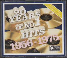 READER'S DIGEST Music 20 Years of Number 1 Hits 1956-1975 Various Artists 4 CD