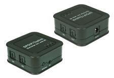 Premium Toslink Audio SPDIF 3x1 Switch mit Fernbedienung + 4x 1m Toslink(DC1.0)