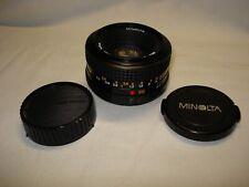 Ancien Objectif Minolta MD Rokkor 50 mm, 1:17 dm, 49 mm