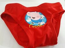 COSTUME GEORGE PEPPA PIG ROUGE 12-18 MOIS MER PISCINE SOLEIL PLAGE BAMBINO