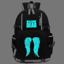 The Walking Dead  Wing Luminous Backpack Shoulder Bag packsack Glow in Dark