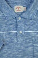 Brooks Brothers Men's Blue Melandge Slub Cotton Polo Shirt L Large