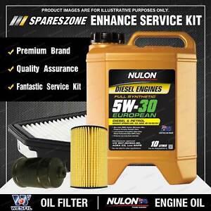 Wesfil Oil Air Fuel Filter + 5W30 Oil Service Kit for Volkswagen Amarok 2H TDi