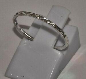 massiv Sterling Silber 925 Stapelring Beisteckring facettiert dünn und zierlich