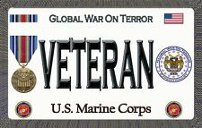 Marine - Global War on Terror - Magnetic Car Sign - 6in X 3.75in