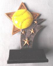 Softball trophy sport star full color resin award Ssr18 small