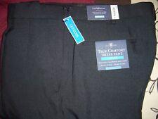 Croft & Barrow True Comfort Dress Pant, Classic fit Pleat, Black 42/29 #640