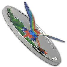 2016 Cook Islands Silver 3D World of Parrots (Scarlet Macaw) - SKU #102760