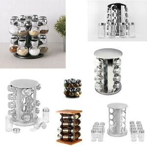 Spice Herb Masala Storage Rack Wall Mounted Standing Revolving Holder Stand