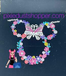 Disney Minnie Mouse Floral Icon Necklace by Rebecca Hook