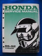 Honda 1986-1992 XR250R Original Factory Shop Service Manual