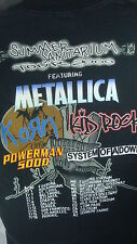SUMMER SANITARIUM TOUR 2000 CONCERT TSHIRT L BLACK METALICA KORN KID ROCK SYSTEM