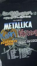 SUMMER SANITARIUM TOUR 2000 CONCERT TSHIRT L BLACK METALICA KORN KID ROCK SYSTEM