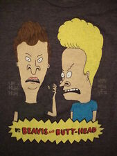 Beavis & Butt-Head MTV Music Television TV Show Funny Cartoon 50/50 T Shirt L