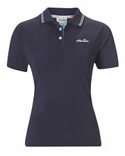 ellesse damen polyester Linie-Tennis kurzärmeliges Polohemd - Marineblau