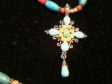 """1980s BARSE 925 necklace and pendant. 10+"""" GORGEOUS"""
