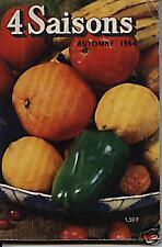 """Livre Revue  """"   Magazine 4 saisons Cuisine et autres - Automne 1964 """" ( No 6 )"""