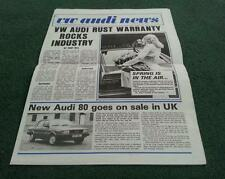 1979 VW AUDI NEWS Issue 36 - UK BROCHURE Golf Passat 100 80 LT GTi Richard Lloyd