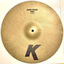 "Zildjian K Dark Thin 15"" Crash Cymbal 890g"