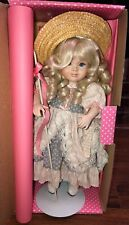 "Bisque porcelain doll by Paradise Galleries: Little-Bo-Peep, 13"", w/COA"