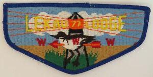 OA Lekau Lodge 77 Pre-fdl Flap BLU Bdr. Camden County, NJ [TK-379]
