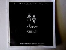 Alvarez Sys550 Installation Instructions & User Guide New!