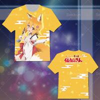 57b39d72 Sewayaki Kitsune no Senko-san Summer Anime Short Casual Unisex T shirt Tee  Tops