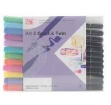 Zig Art & Graphic Twin Coloured Pens Pack Of 12 Bright Colours Ref: TUT-80/12VBR