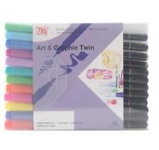 Zig Art & Graphic Twin Coloured Pens Pack Of 12 Bright Colours Ref: TUT-80/12VBR