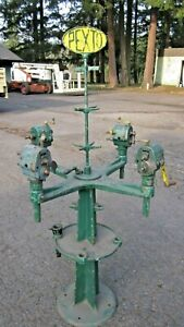 Pexto no 969 cast iron tool stand with bead rollers crimpers Yoder Pullmax Erco