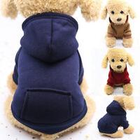 Puppy Pet Dog Hooded Sweater Hoodies Jacket Coat Jumper Clothes Apparel XS-L